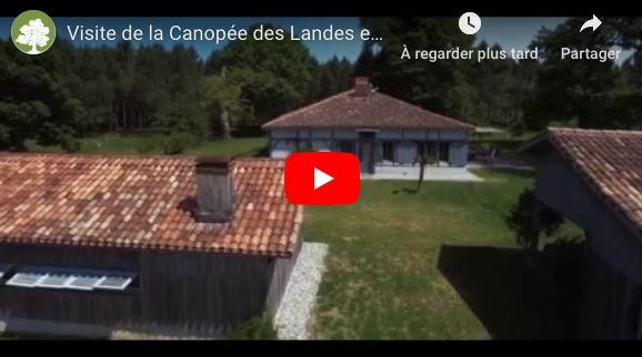 Visite de la Canopée des Landes en drône